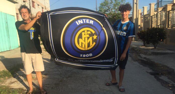 Marco e Raul Lorenzo festeggiano l'Inter